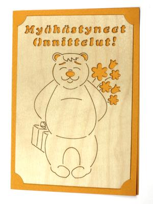 2277 myöhästyneet onnittelut karhu kortti