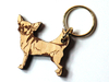 Chihuahua APooth-haired Keyring