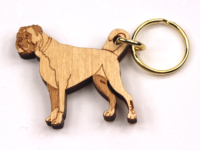 German Boxer Keyring