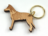 Collie APooth-haired Keyring