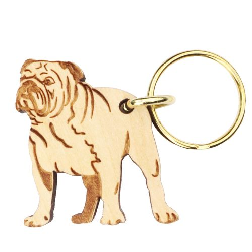 English Bulldog Keyring